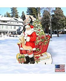 by Susan Winget Classic Christmas Wish List Santa, Wall and Lawn Decor