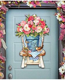 by Susan Winget Peonies Bouquet Wall and Door Decor