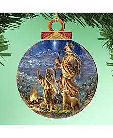 by Dona Gelsinger Shepherds Keeping Watch Ornament, Set of 2