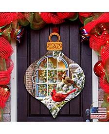 by Dona Gelsinger Christmas Birds Wall and Door Hanger