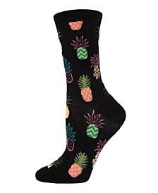 Pineapple Fiesta Women's Novelty Socks