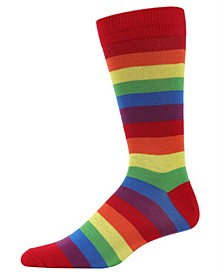 Rainbow Stripe Women's Crew Socks