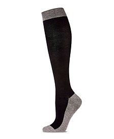 Two-Tone Contrast Women's Compression Socks
