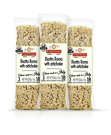 One Pot Dish - Risotto Carnaroli with Artchoke Hearts - 7oz 200 Grams, Pack of 3