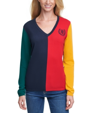 Tommy Hilfiger COLORBLOCKED COTTON SWEATER
