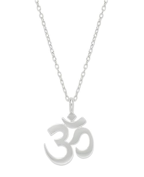 Unwritten sterling silver necklace om symbol pendant necklaces main image main image aloadofball Gallery