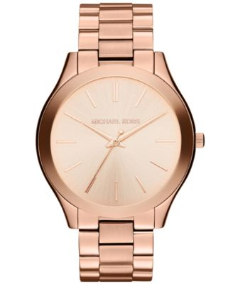 Michael Kors Unisex Slim Runway Rose GoldTone Stainless Steel