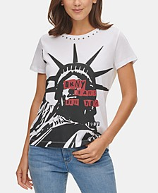 Studded Lady Liberty T-Shirt