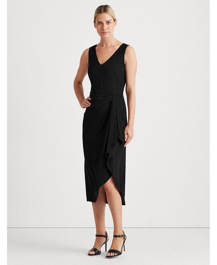 Lauren Ralph Lauren - Georgette V-Neck Dress