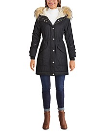 Faux-Fur Trim Hooded Anorak, Created for Macy's