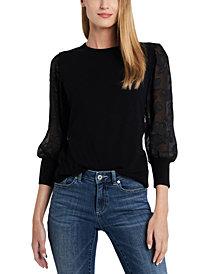 CeCe Illusion-Sleeve Sweater