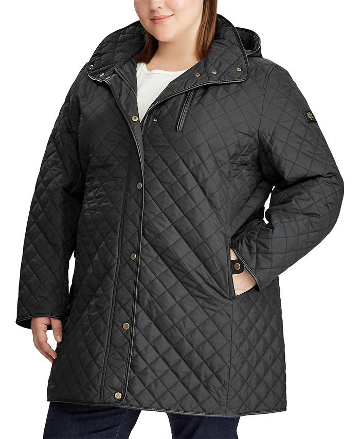 Lauren Ralph Lauren - Plus-Size Quilted Hooded Jacket