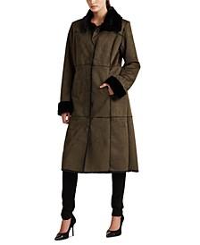 Long Faux-Shearling Coat