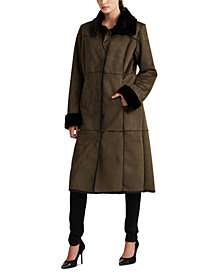 Lauren Ralph Lauren Long Faux-Shearling Coat