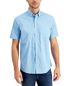 Men's Dot-Print Stretch Cotton Shirt