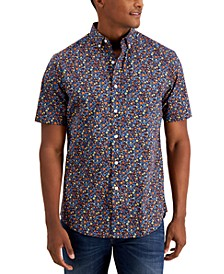 Men's Floral-Print Cotton Shirt, Created for Macy's