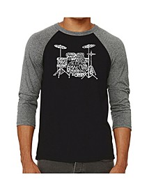 Drums Men's Raglan Word Art T-shirt