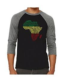 Countries in Africa Men's Raglan Word Art T-shirt