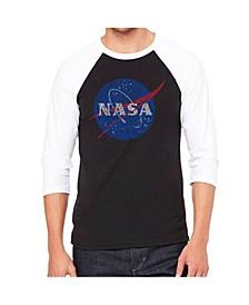 Nasa Men's Raglan Word Art T-shirt
