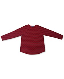 Plus Size Box-Stitch Sweater, Created for Macy's