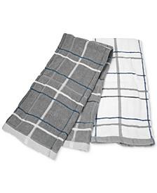 Sculpted Skinny Plaid Kitchen Towel, Set of 2