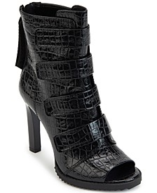 Blake Lug Sole Peep-Toe Booties