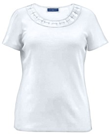Cotton Ring-Trim T-Shirt, Created for Macy's