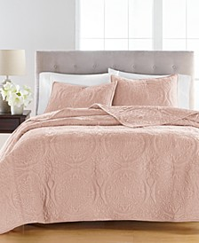 Medallion Tufted Velvet Full/Queen Quilt, Created for Macy's
