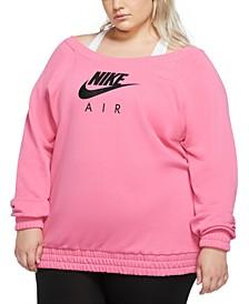 Plus Size Logo Print Sweatshirt