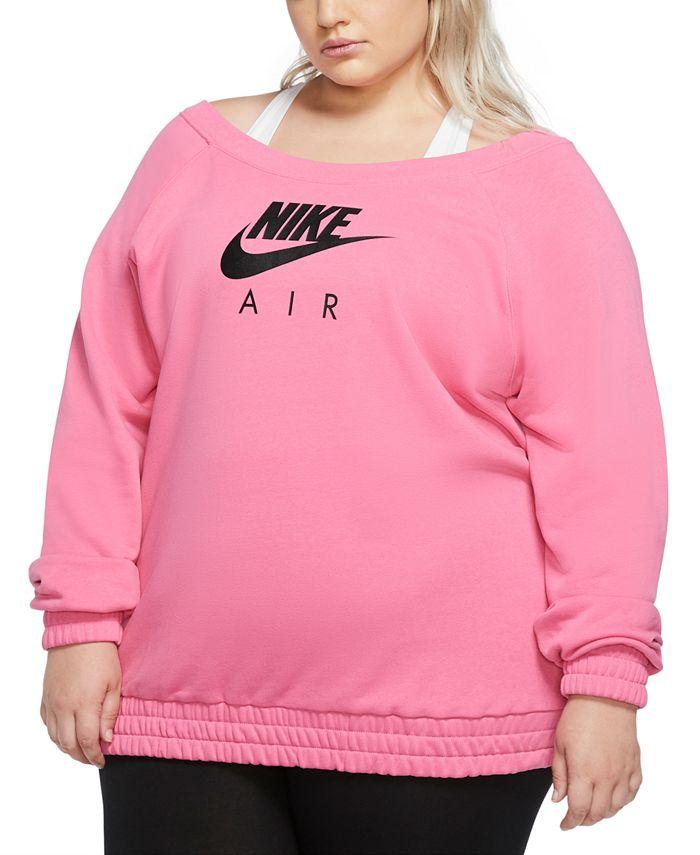 Nike - Plus Size Logo Print Sweatshirt