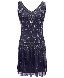 Beaded Drop-Waist Flapper Dress