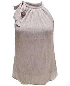 INC Petite Tie-Neck Shine Halter Top, Created for Macy's