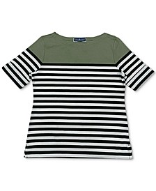 Striped Boatneck Top, Created for Macy's