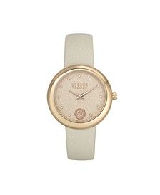 Women's Lea Beige Leather Strap Watch 35mm