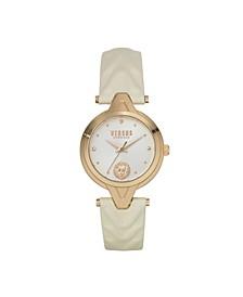 Women's Forlanni Beige Leather Strap Watch 30mm