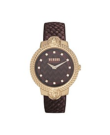 Women's Mouffetard Burgundy Leather Strap Watch 38mm