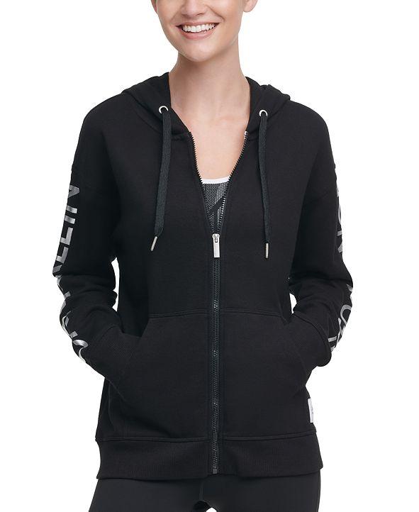 Calvin Klein Metallic-Logo Zip Hoodie