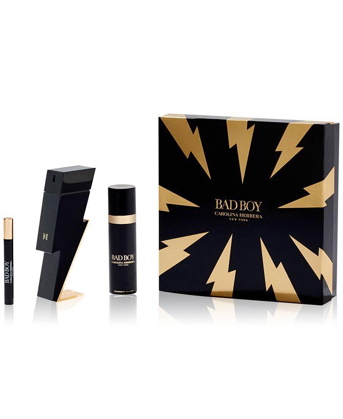 Paco Rabanne - Carolina Herrera Men's 3-Pc. Bad Boy Eau de Toilette Gift Set