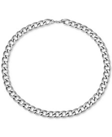 "INC Men's Stainless Steel Curb Link 24"" Chain Necklace, Created for Macy's"
