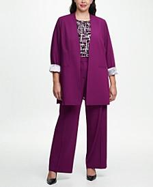 Plus Size Topper Jacket, Top & Pants