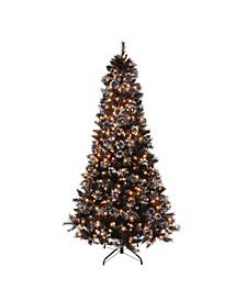 7.5' Pre-Lit Slim Tree with Hard needle, 500 Ul Clear Light