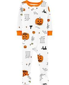 Baby Boy & Girl 1-Piece Halloween Snug Fit Cotton Footie PJs
