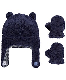 Baby Boy  2-Piece Sherpa Hat & Mittens Set