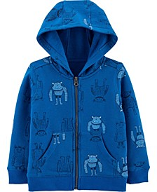 Baby Boy Zip-Up Fleece-Lined Hoodie