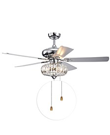 "Kyana 52"" 3-Light Indoor Hand Pull Chain Ceiling Fan with Light Kit"