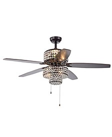 """Tierna 52"""" 6-Light Indoor Hand Pull Chain Ceiling Fan with Light Kit"""