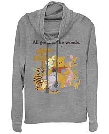 Women's Winnie the Pooh in the Woods Fleece Cowl Neck Sweatshirt