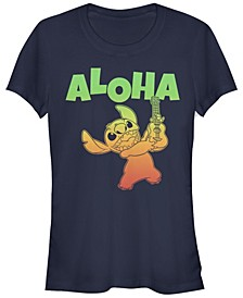 Women's Disney Lilo Stitch Aloha Stitch Short Sleeve T-shirt