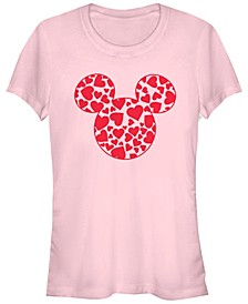 Women's Disney Classic Mickey Hearts Fill Short Sleeve T-shirt