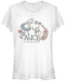 Women's Alice in Wonderland Alice and Rabbit Short Sleeve T-shirt